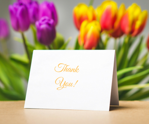 professional thank you notes